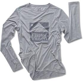 Klättermusen Eir L/S Shirt Women Grey Melange